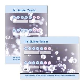 Terminzettel: Wasser Blau mit Logo als Terminblock A7, 50 Blatt (ab 50 Stück)