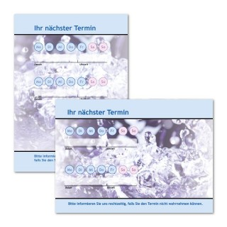 Terminzettel: Welle Blau mit Logo als Terminblock A7, 50 Blatt (ab 50 Stück)