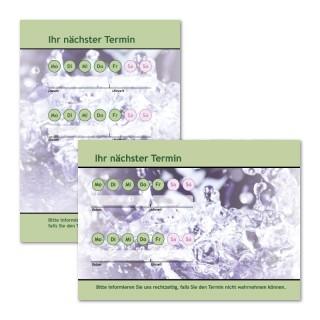 Terminzettel: Welle Grün mit Logo als Terminblock A7, 50 Blatt (ab 50 Stück)