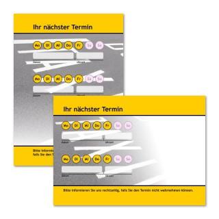 Terminzettel Taxi-Point Gelb mit Logo als Terminblock A7, 50 Blatt (ab 50 Stück)