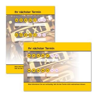 Terminzettel Taxi-Call Gelb als Terminblock A7, 50 Blatt (ab 50 Stück)