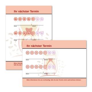 Terminzettel: Zahn als Terminblock A7, 50 Blatt (ab 50 Stück)