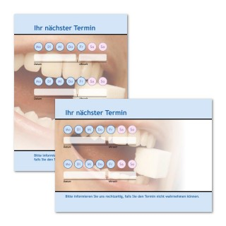 Terminzettel: Zahnarzt Zucker als Terminblock A7, 50 Blatt (ab 50 Stück)