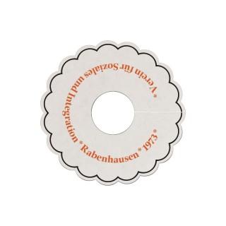 Wellenrand Tassendeckchen bedrucken als Werbeartikel mit eigenem Motiv