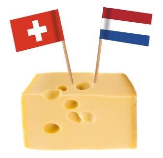 Flaggenpicker im Käse