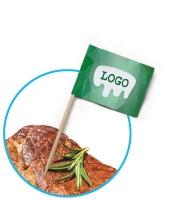 Premium Zahnstocher Fähnchen bedrucken