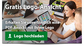 Gratis PDF-Ansicht mit Ihrem Logo auf dem Werbeartikel