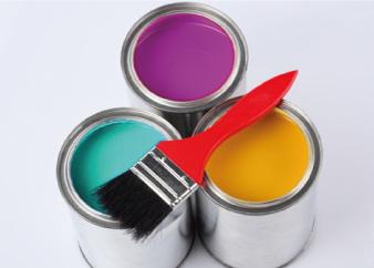 Bild vom Farbeimer mit Cyan, Magenta und Gelb