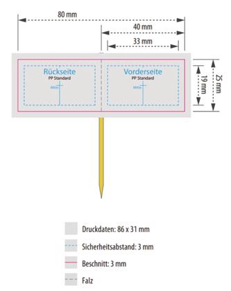 Bild Standskizze Zahnstocherfähnchen mit Markierungen