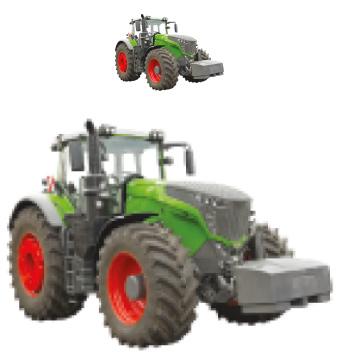 Bild von Traktor klein, Traktor groß verpixelt