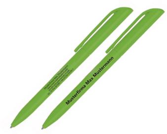 Bild von Kugelschreiber mit zu kleiner Schriftgröße